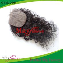 European human hair jerry curl light density silk base closures 4x4 hidden knots