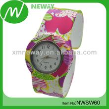 custom design cheap waterproof slap silicone private label watch