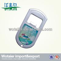 square plastic cover metal bottle opener