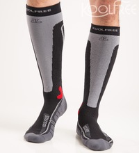 Cycling Men Sport Compression Knee High Socks