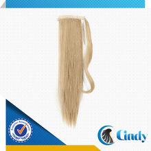 blonde human hair ponytail natural drawstring ponytail