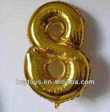 New Design 90cm Big Number Foil Balloons For Party/Celebration