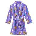 Kız çocukların yeni karikatür prenses rapunzel polar bornoz pijama pijama kız l 10-12