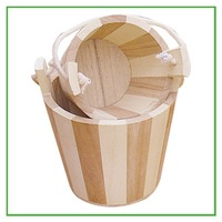 Vintage European Style Wooden Flower Planting Pot with Lid