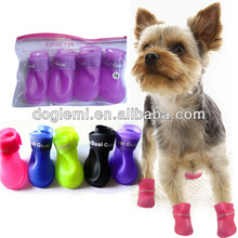 Cute Pet Dog Waterproof Boots Protective Rubber Rain Shoes Candy Colors dog rain boots