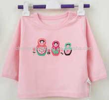 latest child girls printed t shirts