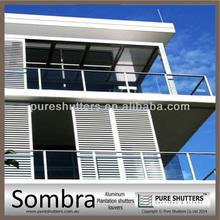 Sombra Fixed Panel Aluminum plantation shutter louvers