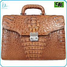 Beautiful real crocodile leather briefcase