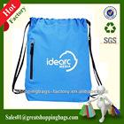 silk printed drawstring bag