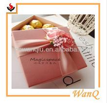 Wedding gift/chololate fashion cardboard box with ribbon