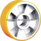 Hand truck yellow pu Al core wheel