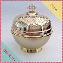 Imperial crown style luxury cosmetic jars,50g crystal clear&hydrated skin jar,30g modern cosmetic packaging