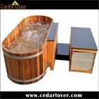 2 person spa massage wooden outdoor bathtub