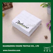 Water absorption custom logo design white hotel folding towels