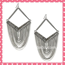 hot sale jewelry chain chandelier earrings YCA001
