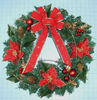 Indoor christmas ornament PET wreath butterfly garland for Christmas tree