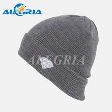 Custom acrylic embroidery ski hat knit plain beanie