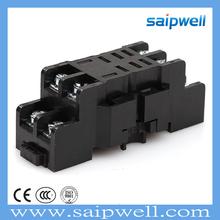 SAIPWELL 13F-2Z-C3(LY2) Cheap Plastic Black 8 Pin Relay Socket Electric Relay Socket 15A Relay Socket