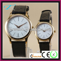 latest fashion leather couple watch,custom design watch for young couple