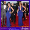 Royal Blue Sexy Open Back Sleeveless 2014 New Fashion Celebrity Bandage Bodycon Dress Wholesale