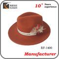 de fieltro de lana baratos sombreros fedora para los hombres con plumas