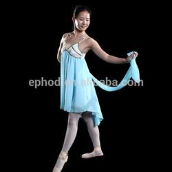 Ephod 2014 fancy girls blue chiffon dress/stage dance wear EPCH-009