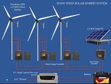 20 KW Wind Solar Hybrid System with Windistar 4.5KW Wind Tubine