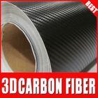super quality 3D Black decorative vinyl sticker roll\carbon fiber skin for car