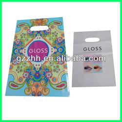 Custom die cut plastic shopping bag