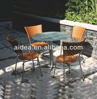 2014 new design garden set wicker outdoor cafe furniture rattan bistro chair set