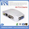 VGA to AV Signal TV S-Video Converter Box Adapter Supports NTSC PAL system