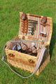 Fabricante de porcelana de venta al por mayor nuevo producto barato wiiiow mimbre cesta de picnic para cuatro personas con un bolso más fresco
