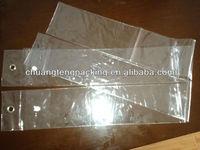 Plastic human hair clear pvc hair extension bag pvc plastic bags for hair extensions