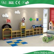 mickey and minne design wood bookshelf kindergarten carton wooden toys