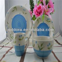 handmade ceramic dinnerware,stoneware dinner set handpainted,portuguese ceramic dinnerware