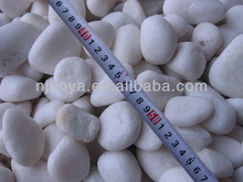 snow white pebble stone, natural river rock