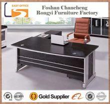 2014 New design MDF wooden high gloss white office desk