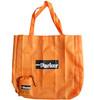 Foldable black nylon tote bag