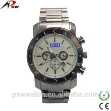 steel bracelet bezel face men fashion wrist watch