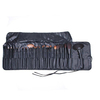 Vonira Beauty 32 Pcs Durable Prefessional Facial Cosmetic Brushes Tools with Black Leather Bag