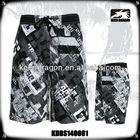 Fashionable Sublimation Printed Wholesale Shiny Nylon shorts