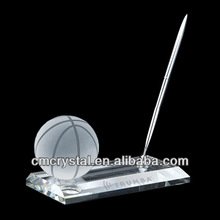 fashion basketball desk accessory crystal pen holder