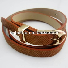 New design women belt many color pu belt ladies fashion fancy belt wholesale