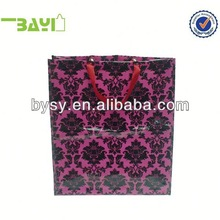 red shiny laser made tote bags promotion