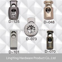 Fancy metal rope cord lock stopper for garments