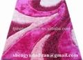 alta qualidade de cor rosa multi estrutura tapetes shaggy do poliéster com seda brilhante