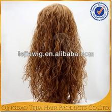 Cheap china products extra long new fashion wavy kanekalon synthetic hair wigs with bangs