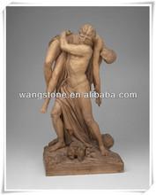 Purely handmade ancient Greek stone figure sculpture