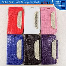 Diamond Leather Glitter Wallet Flip Case For Samsung i9500 S4 Flip Cover With Diamond