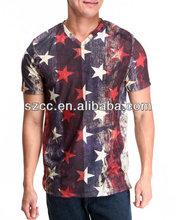 2014 fashion o-neck mens tshirts with printing
